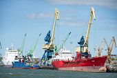 Ships in Klaipeda Harbour