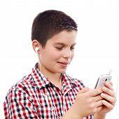 Young Boy On Internet