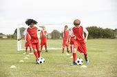 picture of little-league  - Junior soccer team in training - JPG
