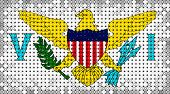 Flag Of United States Virgin Islands Lighting On Led Display