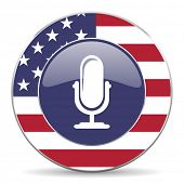 microphone american icon