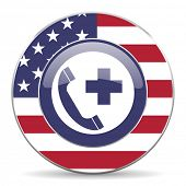 emergency call american icon