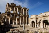 The Celsus Library of Ancient Ephesus in Turkey