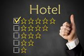 thumbs up hotel rating stars