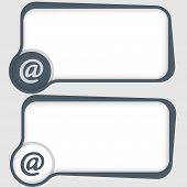 Set Of Two Vector Text Frames And Email Symbol