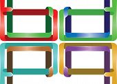 Colorful Ribbon Page Layout