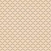Brown Net On Beige Background Seamless Pattern