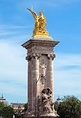Paris - Pillar Of Alexandre Iii Bridge