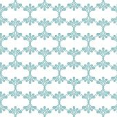 Seamless Pattern With Blue Floral Elements.