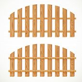 Wooden semicircular fence