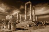Temple Of Hercules (Amman) In Sepia