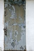 Old rusty steel door