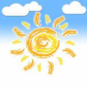 Sun Rays Indicates Summer Time And Beam