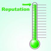 Reputation Thermometer Shows Mercury Credibility And Temperature