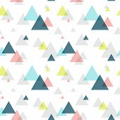 Geometric triangle seamless pattern