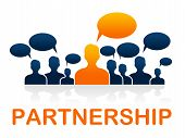 Teamwork Partnership Means Working Together And Cooperation