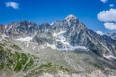 The Aiguille Du Moine And The Grande Rocheuse (c) In The French Alps Above Chamonix