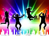 Music Excitement Indicates Sound Track And Dancing