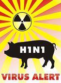 Постер, плакат: H1N1 вирус alert