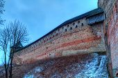 Castle In Town Lutsk In Winter