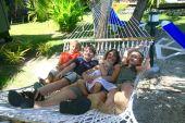 Happy Family On Hammock