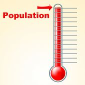 Thermometer Population Shows Thermostat Celsius And Temperature