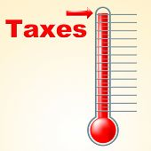 Thermometer Taxes Represents Duties Mercury And Taxpayer