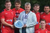 MOSCOW, RUSSIA - JUNE 29, 2014: Team Wales wins plate during the FIRA-AER European Grand Prix Series