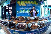 Food Shop In Myanmar.