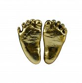 Foot Baby Gold Model