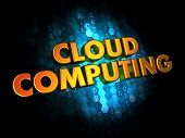 Cloud Computing on Digital Background.