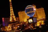 stock photo of glitz  - Replica of Eiffel Tower at Paris in Las Vegas - JPG