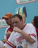 Champion Joey Chestnut near the end