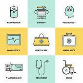 Healthcare And Medicine Flat Icons Set