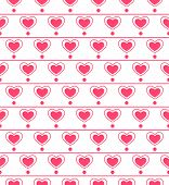 Seamless pattern with repeating hearts