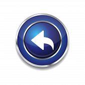 Reset Replay Circular Vector Blue Web Icon Button