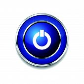 Power Circular Vector Blue Web Icon Button