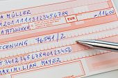 picture of bic  - a number schin for transfer or cash payment with iban and bic code of austria - JPG