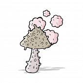 cartoon weird mushroom