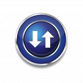 Data Circular Vector Blue Web Icon Button