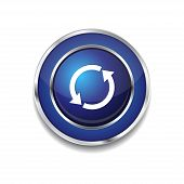 Reset Sync Circular Vector Blue Web Icon Button