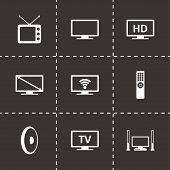 Vector tv icon set