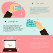 foto of payment methods  - Set of flat design concepts  - JPG