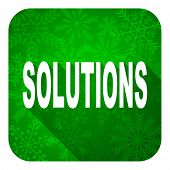 solutions flat icon, christmas button