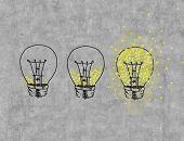 Three Light Bulbs