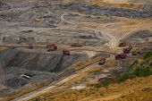 Industrial mining machine in mine