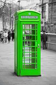 Famous telephone booth in London, UK