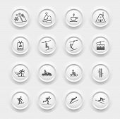 Winter Icons - Buttons