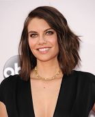 LOS ANGELES - NOV 23:  Lauren Cohan arrives to the 2014 American Music Awards on November 23, 2014 in Los Angeles, CA