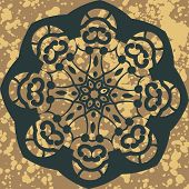 Mandala. Round Ornament Pattern. Vector floral design